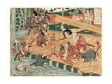 Chinzei Hachiro Tametomo Giclee Print by Kubo Shunman