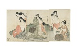 Abalone Divers, 1797-1798 Giclee Print by Kitagawa Utamaro