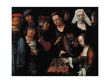 The Chess Players, 1510 Giclee Print by Lucas van Leyden