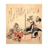 Wakamizu No Fukucha Giclee Print by Katsushika Hokusai