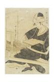 Iweaving on a Loom C. 1797-1798 Giclee Print by Kitagawa Utamaro