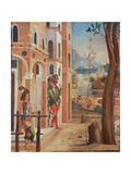 Palace with Guards Giclee Print by Lazzaro Bastiani