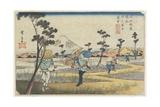 No.8 Distant View of Mt. Fuji as Seen from Fukiage Near Konosu Station, 1830-1844 Giclee Print by Keisai Eisen