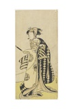 The Actor Onoe Matsusuke in a Female Role, 1760-1780 Giclee Print by Katsukawa Shunsho