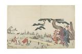 Iris Garden, 1800-1808 Giclee Print by Katsushika Hokusai