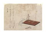 New Year's Day of the Year of Snake Giclee Print by Katsushika Hokusai