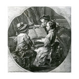 An Allegory of Music, La Musique, 1756 Giclée-Druck von Louis Michel Van Loo