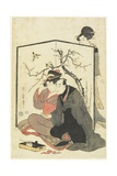 Man and Courtesan Smoking Pipes, C. 1804 Giclee Print by Kitagawa Utamaro