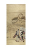 Nikuhitsu Ukiyo-E: Geisha on Her Way to a Night-Time Assignation, C. 1784 Giclee Print by Kitao Masanobu