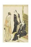 Ichikawa Monnosuke Ii, Onoe Matsusuke at a Teahouse, C. 1780-1795 Giclee Print by Katsukawa Shuncho