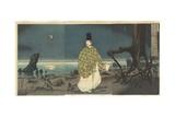 Sugawara Michizane in Exile, February 1884 Giclee Print by Kobayashi Kiyochika