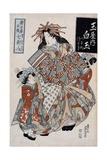 The Courtesan Shiratama from the Tamaya House, C.1825 Giclee Print by Keisai Eisen
