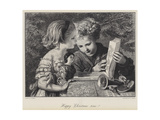 Happy Christmas Time! Giclee Print by Karl Wilhelm Friedrich Bauerle