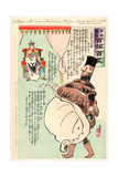 A Strange Visitor Brings a War Telegram to the Czar Giclee Print by Kobayashi Kiyochika
