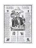 Calavera Tapatia, Published 1910 Giclee Print by Manuel Manilla
