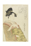 The Courtesan Hanaohi of the Ogiya House, C. 1793-1794 Giclee Print by Kitagawa Utamaro