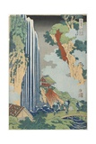 Ono Falls on the Kiso Road, C. 1833 Giclée-Druck von Katsushika Hokusai