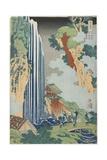Ono Falls on the Kiso Road, C. 1833 Giclee Print by Katsushika Hokusai