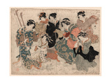 Yatsushi Chikurin No Shichikenjin Sono Yon Giclee Print by Kubo Shunman