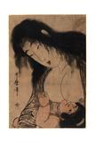 Yamauba No Chichi O Suh Kintaro Giclee Print by Kitagawa Utamaro