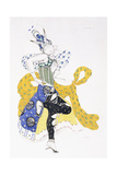 Costume Design for Madame Trouchanova in 'La Peri' Giclee Print by Leon Bakst