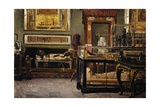 Hall of Egyptian Museum in Turin Giclee Print by Lorenzo Delleani