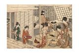 Itsuzuke No Satsuki Giclee Print by Kitagawa Utamaro