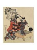 Puppet on Go Game Board, 1820-1834 Giclée-Druck von Katsushika Hokusai