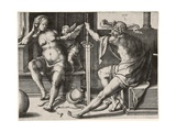 Mars, Venus, and Cupid, 1530 Giclee Print by Lucas van Leyden