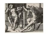 Mars, Venus, and Cupid, 1530 Giclee Print by Lucas van Leyden