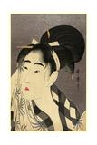 Ase O Fuku Onna Giclee Print by Kitagawa Utamaro