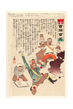 Such Mild News Comes from the War That Nicholas Says Giclee Print by Kobayashi Kiyochika