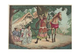Departure of the Warrior Kusunoki at the Sakurai Station, C. 1880-1899 Giclee Print by Kobayashi Kiyochika