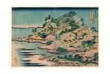 Sesshu Ajigawaguchi Tenposan Giclee Print by Katsushika Hokusai