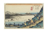 No.31: View of Lake Suwa as Seen from Shiojiri Pass, 1835-1836 Giclee Print by Keisai Eisen