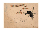Kanmuri Ni Hiogi Giclee Print by Kubo Shunman