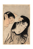 Yamauba No Kami O Tsukamu Kintaro Giclee Print by Kitagawa Utamaro