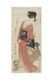 Chiyo from Kaga Province, C. 1801-1804 Gicléetryck av Kitagawa Utamaro