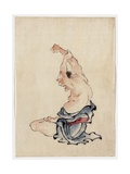 Man Stretching, Published 1830-50 Giclee Print by Katsushika Hokusai