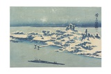 Island Village in Snow, C. 1824-1848 Giclee Print by Keisai Eisen