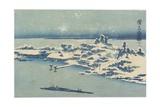 Island Village in Snow, C. 1824-1848 Giclee Print by Keisai Eisen
