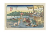 No.13 View of the Tori-Kawa River at Kuragano Station, 1830-1844 Giclee Print by Keisai Eisen
