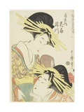 The Courtesans Hanaogi and Takigawa of the Ogiya House, C. 1805 Giclee Print by Kitagawa Utamaro