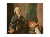Self Portrait Giclee Print by Louis Michel Van Loo