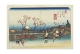 No.5: Distant View of Mt. Fuji as Seen from Omiya Station, 1830-1844 Giclee Print by Keisai Eisen