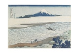 Jewel River in Musashi Province, 1831-1834 Giclée-Druck von Katsushika Hokusai