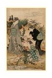 Hagi No Tamagawa Giclee Print by Kubo Shunman