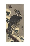 Eagle and Sparrow Giclee Print by Keisai Eisen