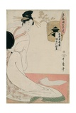 The Courtesan Hanazuma of Hyogoya from the Series 'Brands of Sake Linked with Six Selected Courtesa Giclee Print by Kitagawa Utamaro