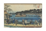 Spring View of Benzai-Ten Shrine at the Shinobazu Pond in Edo, C. 1830-1844 Giclee Print by Keisai Eisen